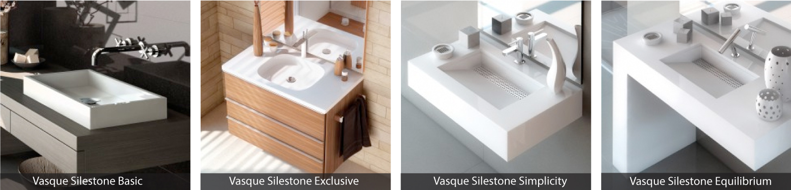 Vasques Silestone Basic, Exclusive, Simplicity, Equilibrium
